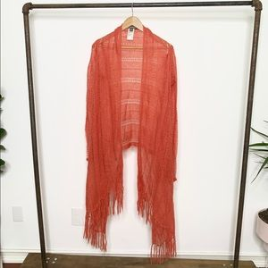 Tommy Bahama Mohair Draped Open Front Cardigan